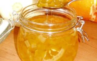Апельсиновое варенье из кабачков