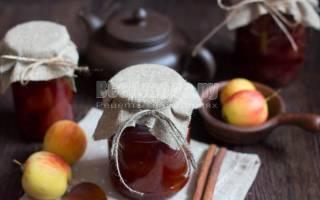 Варенье из яблок со сливой
