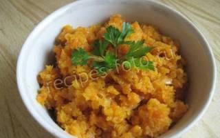 Икра морковная с помидорами