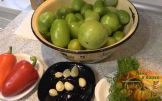 Рецепт квашеных зеленых помидор