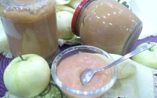 Яблочно грушевое пюре