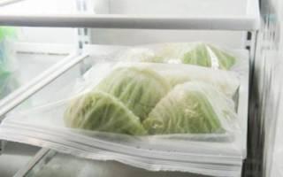 Заморозка белокочанной капусты