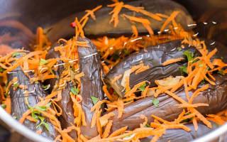 Баклажаны с морковкой