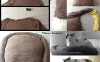 Кроватка для котенка своими руками