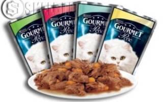 Гурмэ корм для кошек состав