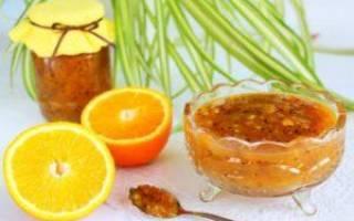 Варенье из черноплодки с апельсином